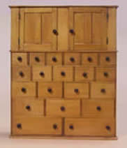 #77 Miniature Shaker Cabinet of Case of Drawers