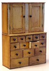 Miniature Fourteen Drawer Apothecary Cabinet