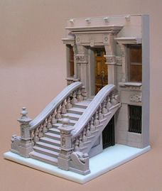 The New York Brownstone Miniature Free standing sculpture