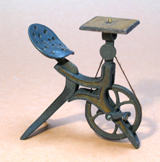 Antique Miniature Bicycle Router - Miniature Antique Pedal Tools