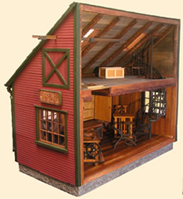 Custom Miniature Room Boxes - Miniatures by Shaker Works West