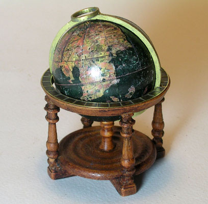 Miniature Antique Library Globes - Martin Behaim's Terrestrial Globe 1492