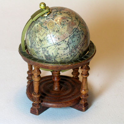 Miniature Antique Library Globes - Cassini's Celestial Globe 1792