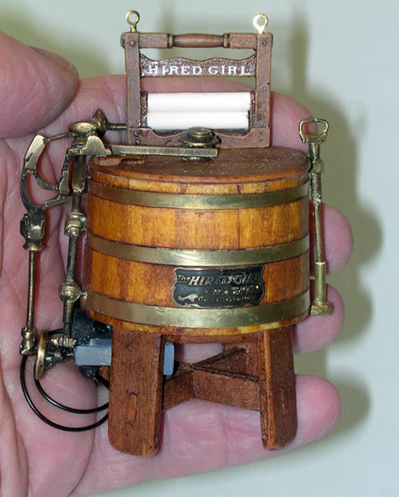 Miniature Maytag Hired Girl Washing Machine - Miniatures by Shaker Works West