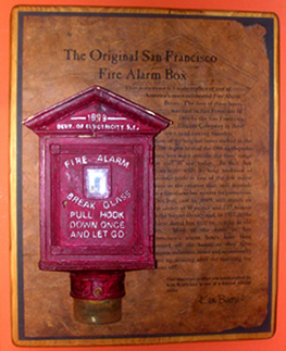 1/3 scale Historic San Francisco Fire Alarm Box
