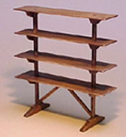 Miniature Shaker Flight of Shelves