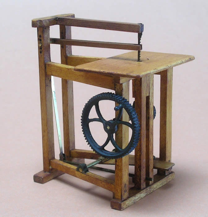 Antique Miniature Pedal Jig Saw - Miniature Antique Pedal Tools