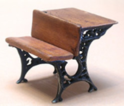 Miniature Antique School Desk