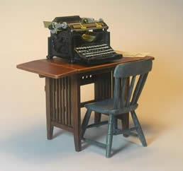 Miniature Arts & Crafts Typewriter Table